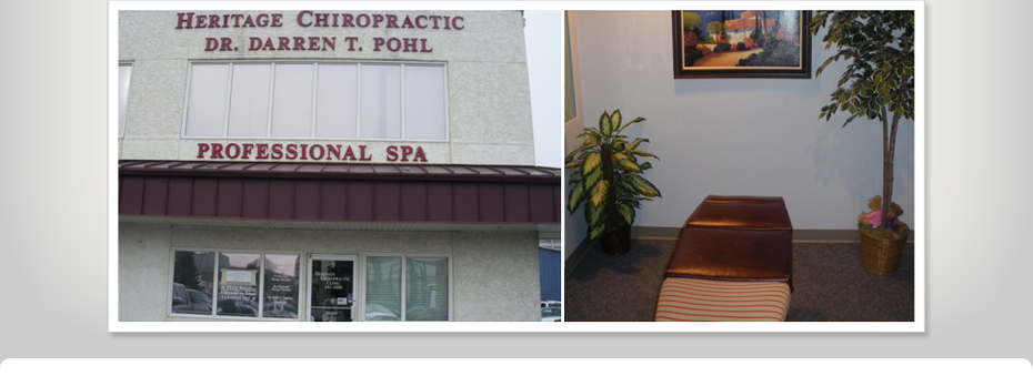 office entrance chiropractic table